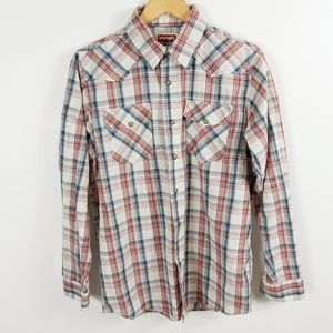 Wrangler Jeans Co Pearl Snap Western Shirt